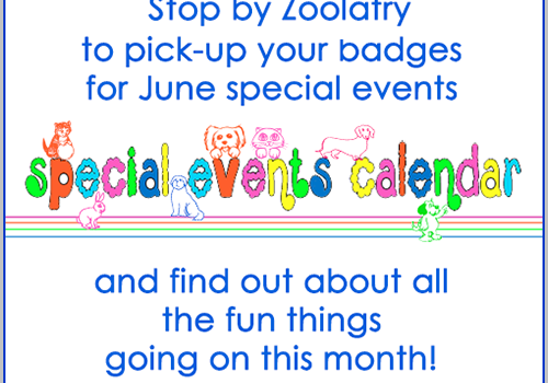 Calendar Events at Zoolatry