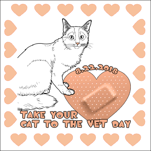 Take Your Cat To The Vet Day 8/22 Blog Links