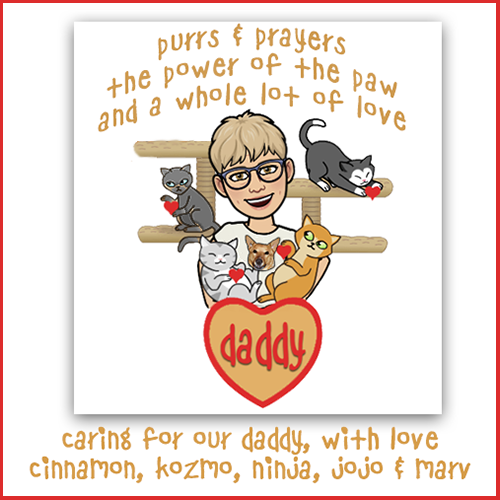 Purrs, Prayers And Love For Mom Barb And The Family