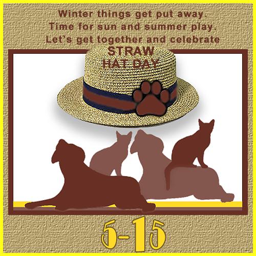 Straw Hat Day 5/15 Blog Links